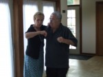 Grandparents dancing to their favorite song